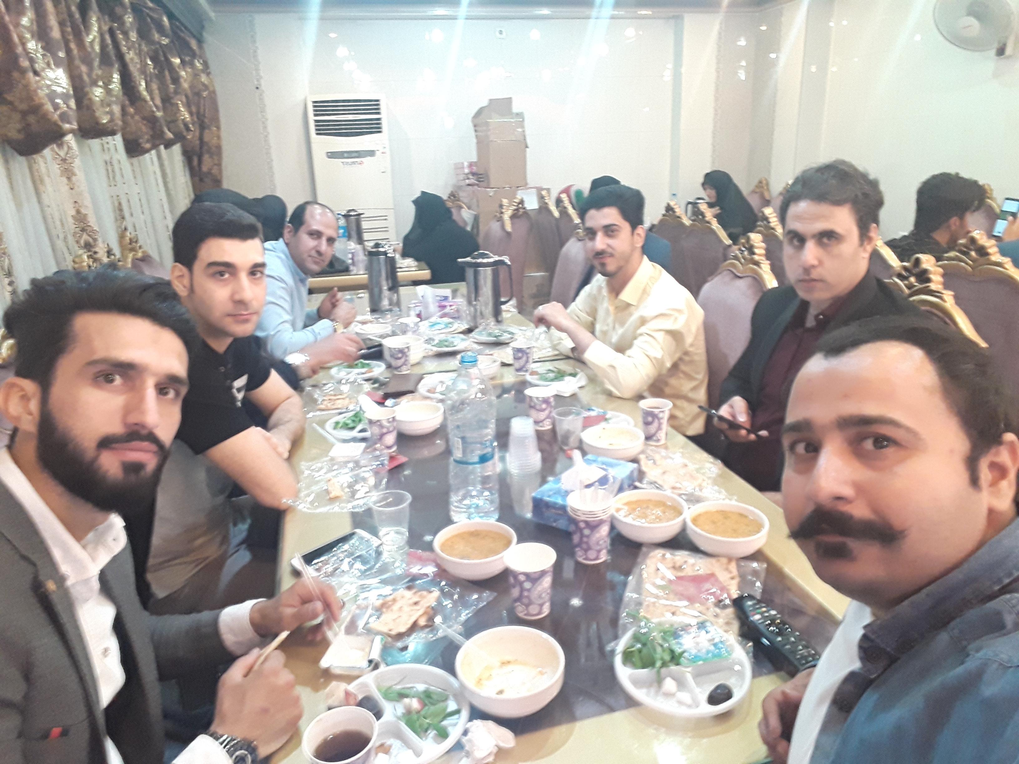 مراسم ضیافت افطاری در ماه مبارک رمضان